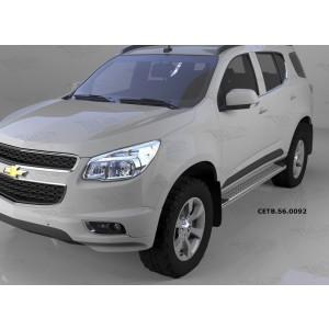 Can Otomotiv CETB.56.0092 пороги алюминиевые (Opal) Chevrolet TrailBlazer (2013-)