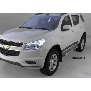 Can Otomotiv CETB.57.0092 пороги алюминиевые (Topaz) Chevrolet TrailBlazer (2013-)