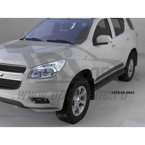 Can Otomotiv CETB.69.0092 пороги алюминиевые (Corund Black) Chevrolet TrailBlazer (2013-)