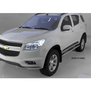 Can Otomotiv CETB.77.0092 пороги алюминиевые (Emerald Black) Chevrolet TrailBlazer (2013-)