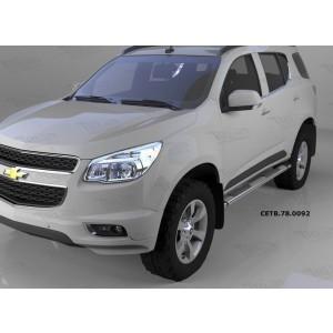 Can Otomotiv CETB.78.0092 пороги алюминиевые (Emerald silver ) Chevrolet TrailBlazer (2013-)