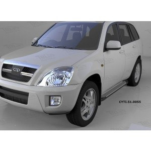 Can Otomotiv CYTI.51.0055 пороги алюминиевые (Sapphire Silver) Vortex Tingo(2010-)