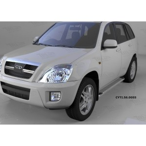 Can Otomotiv CYTI.56.0055 пороги алюминиевые (Opal) Chery Tiggo (2006-)