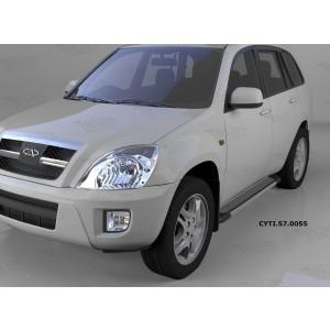Can Otomotiv CYTI.57.0055 пороги алюминиевые (Topaz) Chery Tiggo (2006-)