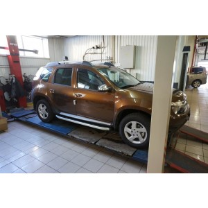Can Otomotiv DCDU.47.0448 пороги алюминиевые (Alyans) Nissan Terrano (2014-)