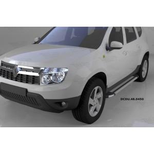 Can Otomotiv DCDU.48.0450 пороги алюминиевые (Brillant) Nissan Terrano (2014-) (серебр)