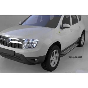 Can Otomotiv DCDU.51.0448 пороги алюминиевые (Sapphire Silver) Nissan Terrano (2014-)