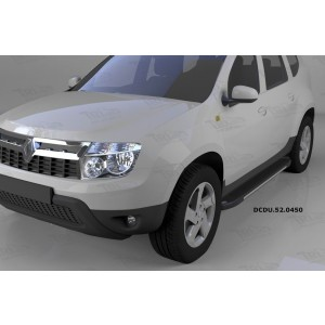 Can Otomotiv DCDU.52.0450 пороги алюминиевые (Onyx) Nissan Terrano (2014-)