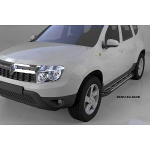 Can Otomotiv DCDU.53.0448 пороги алюминиевые (Corund Silver) Nissan Terrano (2014-)