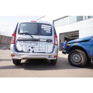 Can Otomotiv DCLM.57.0484 защита заднего бампера труба d42mm Dacia Logan MCV