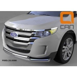 Can Otomotiv FOED.33.9306 защита переднего бампера Ford Edge (2014-) (двойная) d 76/60