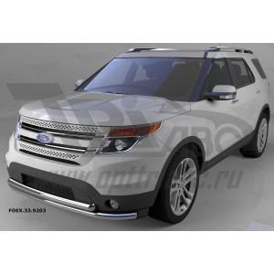 Can Otomotiv FOEX.33.9203 защита переднего бампера Ford Explorer (2013-2015) (двойная) d 60/60