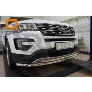 Can Otomotiv FOEX.33.9211 защита переднего бампера Ford Explorer (2015-) (двойная) d60/42