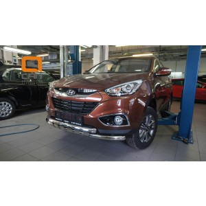 Can Otomotiv HYIX.33.1244 защита переднего бампера Hyundai ix35 (2009-2015) (Shark) d60/60