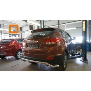 Can Otomotiv HYIX.57.1241 защита заднего бампера Hyundai ix35 (2009-2015) (одинарная волна) d60