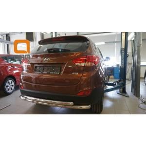 Can Otomotiv HYIX.57.1242 защита заднего бампера Hyundai ix35 (2009-2015) (двойная) d60/60