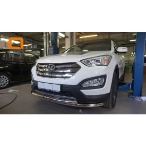 Can Otomotiv HYSA.33.1200 защита переднего бампера Hyundai SantaFe (2012-/2015-) (двойная) d60/60  (несовместима с защитой картера)