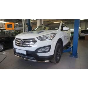Can Otomotiv HYSA.33.1201 защита переднего бампера Hyundai SantaFe (2012-/2015-) (одинарная) d60 (несовместима с защитой картера)