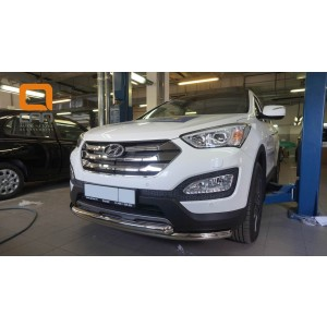 Can Otomotiv HYSA.33.1203 защита переднего бампера Hyundai Grand SantaFe (2013-) (двойная) d60/60 (несовместима с защитой картера)