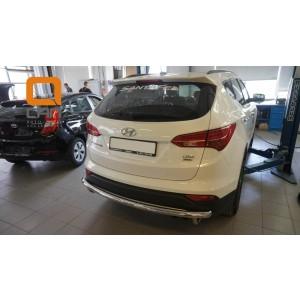 Can Otomotiv HYSA.57.1202 защита заднего бампера Hyundai SantaFe (2012-/2015-) (одинарная) d60