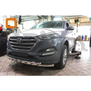 Can Otomotiv HYTU.33.1230 защита переднего бампера Hyundai Tucson (2015-) (Shark) d60/42