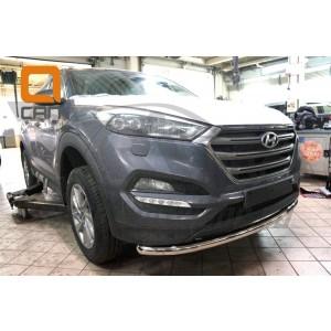 Can Otomotiv HYTU.33.1231 защита переднего бампера Hyundai Tucson (2015-) (одинарная) d60
