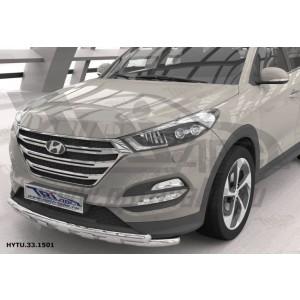 Can Otomotiv HYTU.33.1501 защита переднего бампера Hyundai Tucson (2015-) (Shark) d60/60*