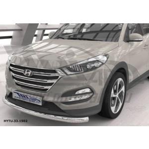 Can Otomotiv HYTU.33.1502 защита переднего бампера Hyundai Tucson (2015-) (одинарная) овал d 75x42*