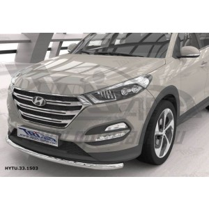 Can Otomotiv HYTU.33.1503 защита переднего бампера Hyundai Tucson (2015-) (одинарная) d 60*