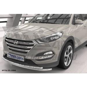 Can Otomotiv HYTU.33.1504 защита переднего бампера Hyundai Tucson (2015-) (двойная) d60/42*