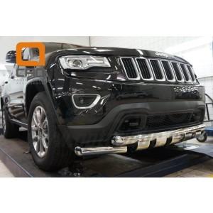 Can Otomotiv JECH.33.1307 защита переднего бампера Jeep Grand Cherokee (2011-) (Shark) d 76/76