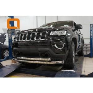 Can Otomotiv JECH.33.1308 защита переднего бампера Jeep Grand Cherokee (2011-) (двойная) d 60/76