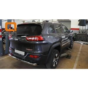 Can Otomotiv JECH.57.1326 защита заднего бампера Jeep Cherokee Тrailhawk (2014-) (одинарная) d76