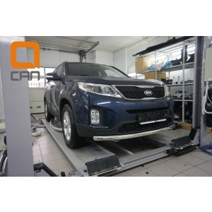 Can Otomotiv KISO.33.1380 защита переднего бампера KIA Sorento (2012-) (одинарная) d 60*