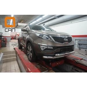 Can Otomotiv KISP.33.1436 защита переднего бампера KIA Sportage (2010-2016) (двойная) d 60/60*