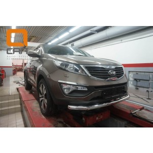 Can Otomotiv KISP.33.1437 защита переднего бампера KIA Sportage (2010-2016) (одинарная) d 60*