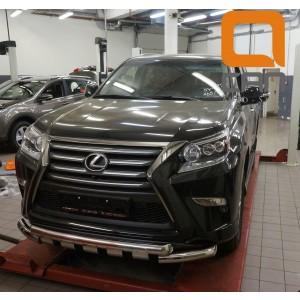 Can Otomotiv LE46.33.4600 защита переднего бампера Lexus GX460 (2014-) (Shark) d76/60