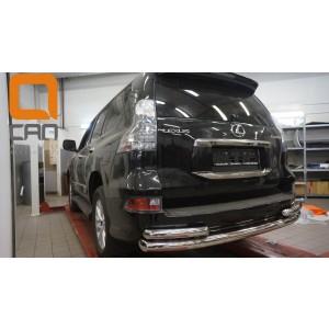 Can Otomotiv LE46.55.4603 защита заднего бампера Lexus GX460 (2014-) (одинарная с уголками) d 76/60