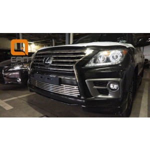 Can Otomotiv LE57.27.1580 защита радиатора (нижняя, в бампер) Lexus LX570 (2014-2015) / LX570 Sport (2014-2015)  d 16