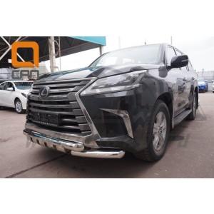 Can Otomotiv LE57.33.1573 защита переднего бампера Lexus LX570 (2015-) (Shark) d76/76