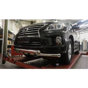 Can Otomotiv LE57.33.1578 защита переднего бампера Lexus LX570 (2014-2015) (Shark) d 76/76