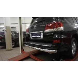 Can Otomotiv LE57.55.1575 защита заднего бампера Lexus LX570 (2014-2015 / 2015-) (одинарная) d 76