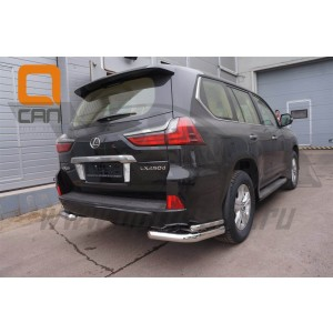 Can Otomotiv LE57.57.1578 защита заднего бампера Lexus LX570 (2015-) (уголки) d76/42