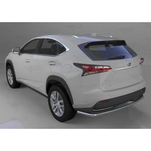 Can Otomotiv LENX.57.4611 защита заднего бампера Lexus NX 200 (2014-) (одинарная) d 42