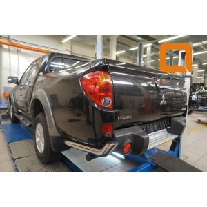 Can Otomotiv MIL2.53.1988 защита заднего бампера Mitsubishi L200 (2014-2015) (уголки) d 76