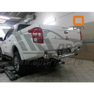 Can Otomotiv MIL2.55.6030 защита заднего бампера Mitsubishi L200 (2015-) (одинарная волна) d76