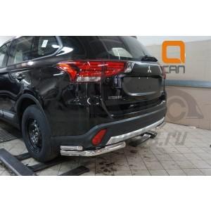 Can Otomotiv MIOL.53.2049 защита заднего бампера Mitsubishi Outlander (2015-) (уголки) d 60/42