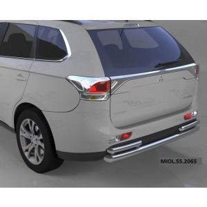 Can Otomotiv MIOL.55.2065 защита заднего бампера Mitsubishi Outlander (-2014/2014-04.2015) (одинарная с уголками) d 60/42