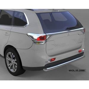 Can Otomotiv MIOL.55.2066 защита заднего бампера Mitsubishi Outlander (-2014/2014-04.2015) (одинарная) d 60
