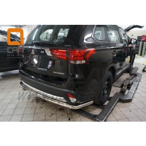 Can Otomotiv MIOL.55.2067 защита заднего бампера Mitsubishi Outlander (2015-) (одинарная) d 60